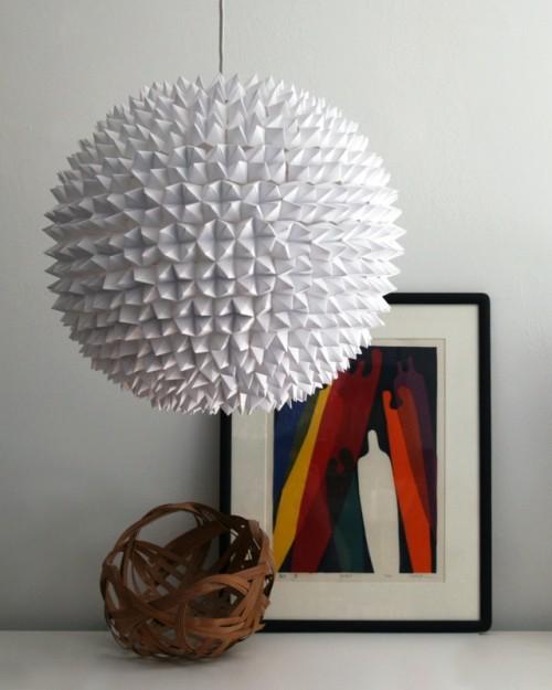 DIY Faceted Pendant Paper Light