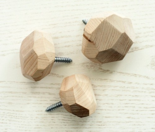 DIY Faceted Wall Hooks
