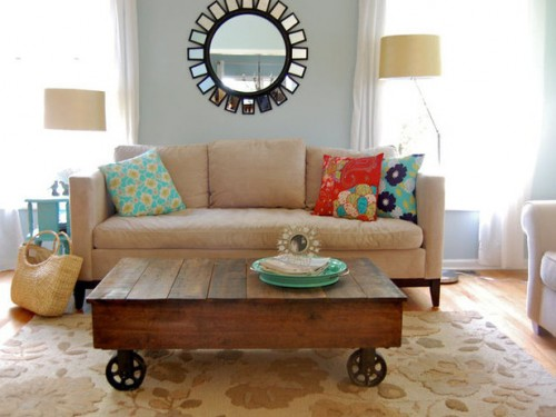 Diy Factory Cart Reclaimed Coffee Table