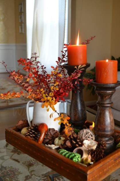 13 Diy Fall Candle Centerpieces To Bring Warmth In Shelterness