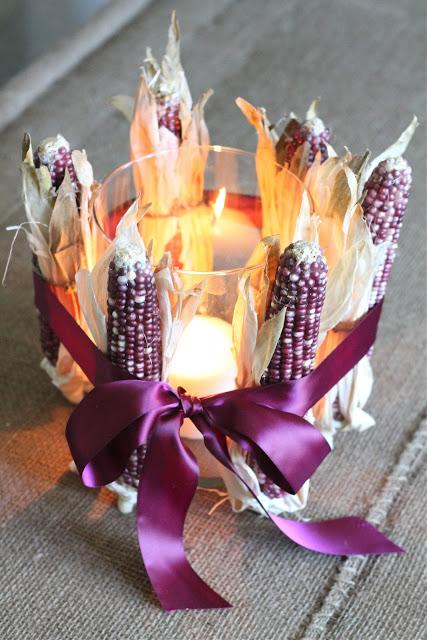 dried corn centerpiece (via julieblanner)