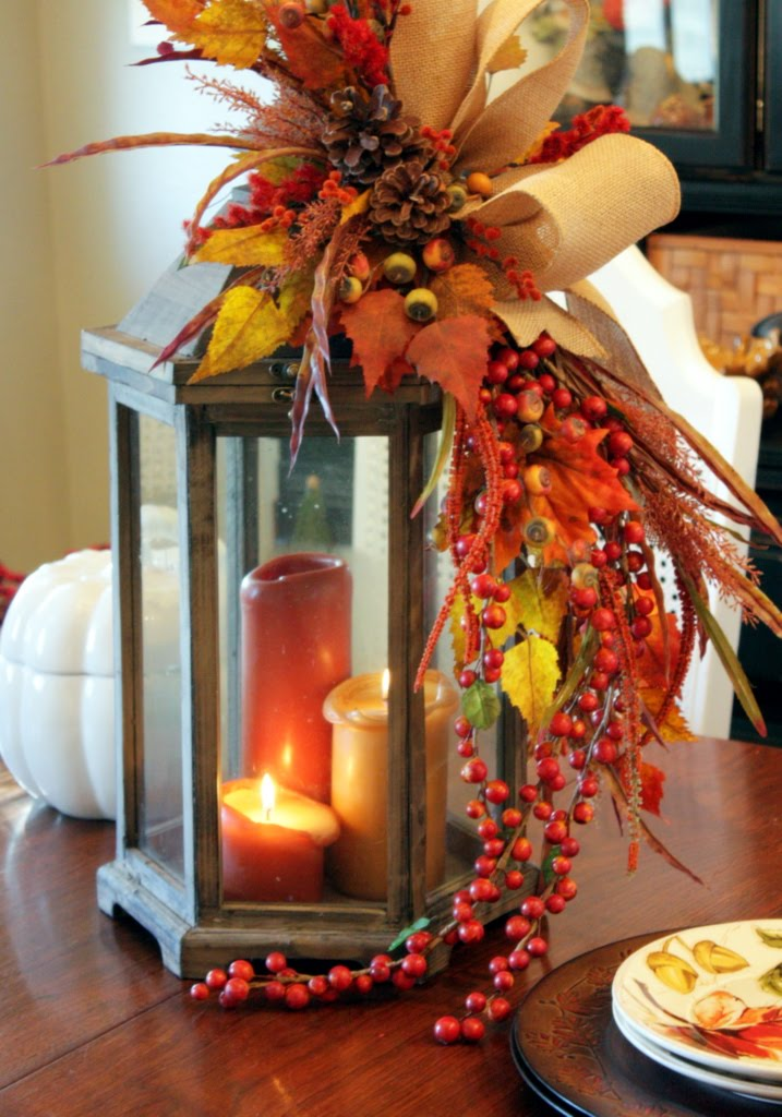 Picture of fall lantern