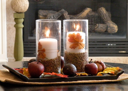 DIY Fall Coffee Table Centerpiece Shelterness