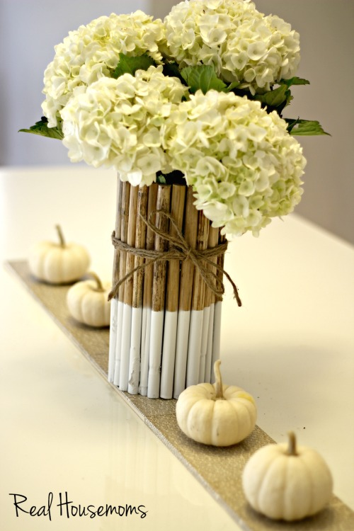 color block twig vase (via realhousemoms)