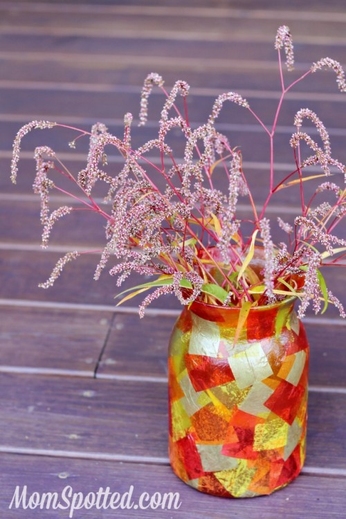 mosaic fall vase (via momspotted)