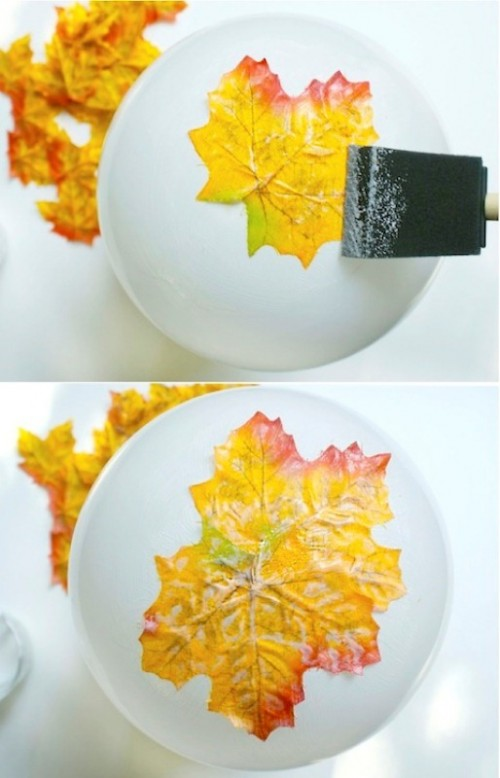 Diy Fall Leaves Bowl