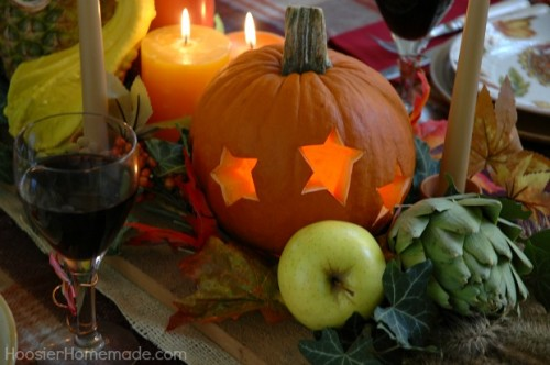 carved centerpiece (via hoosierhomemade)