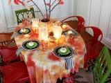 colorful fall tablecloth