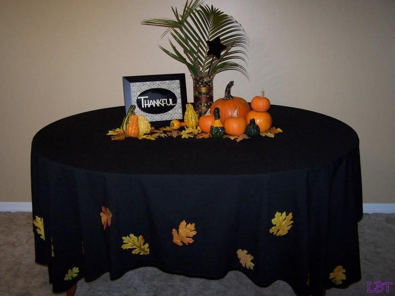 festive fall tablecloth