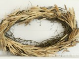 messy wheat wreath