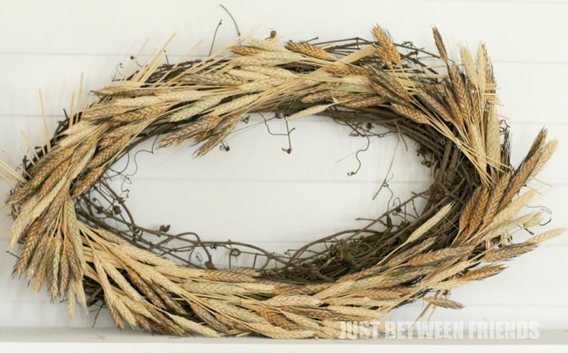messy wheat wreath