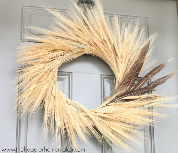 wheat and feather wreath