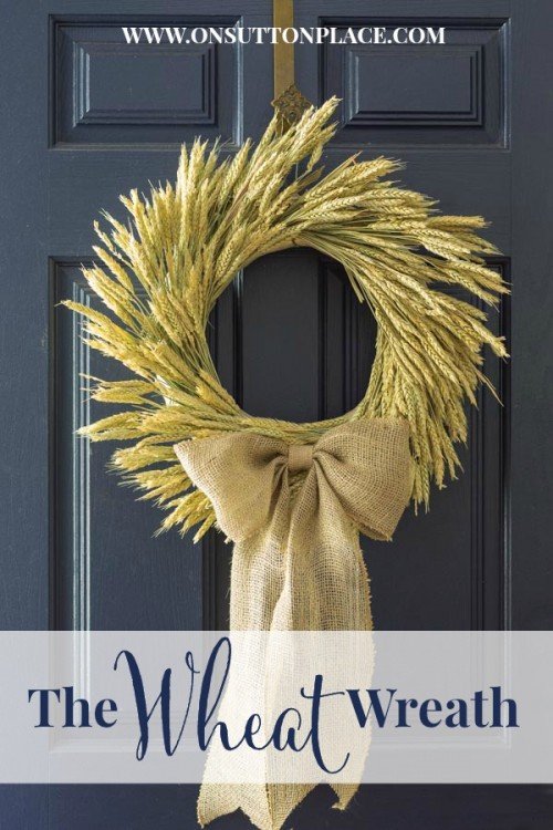 wheat and burlap wreath (via onsuttonplace)