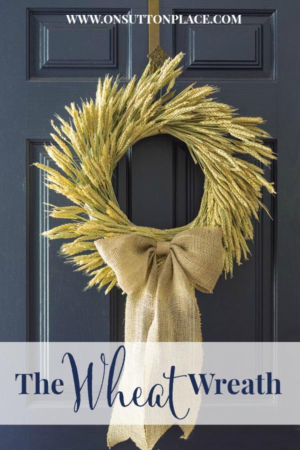 wheat and burlap wreath