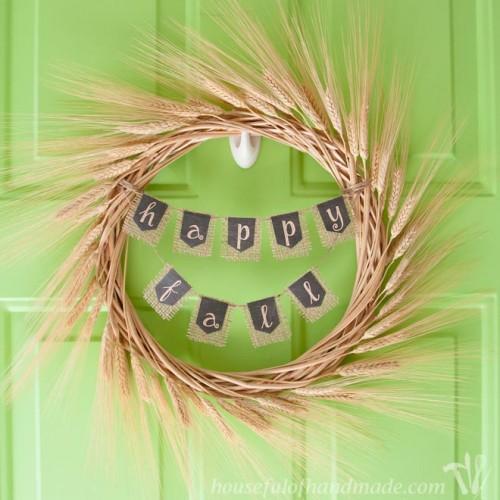 simple wheat wreath (via housefulofhandmade)
