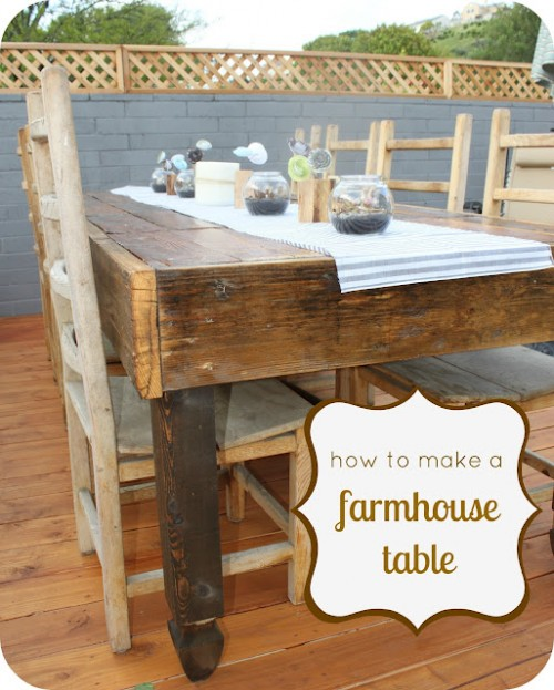 DIY Farmhouse Dining Table (via whatjeffdid)