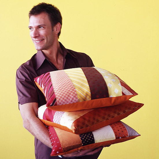 Diy Fathers Day Pillows Made With Ties