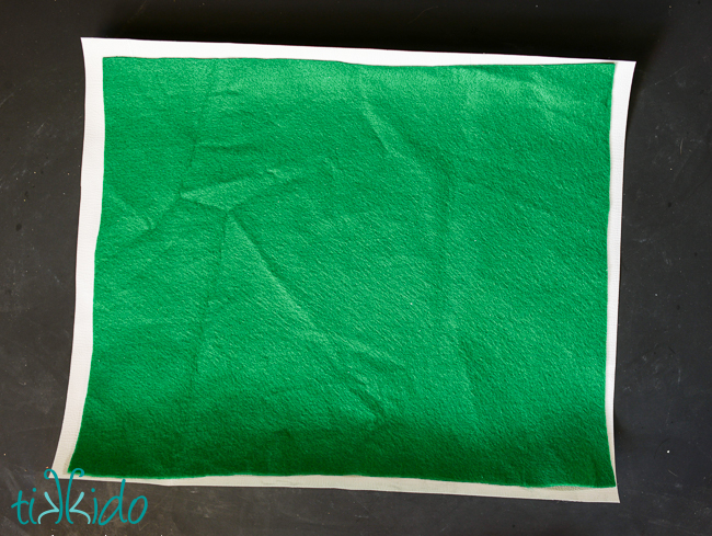 Picture Of diy faux birch rustic placemat  3