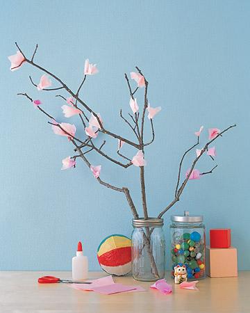 DIY Faux Cherry-Blossom Tree