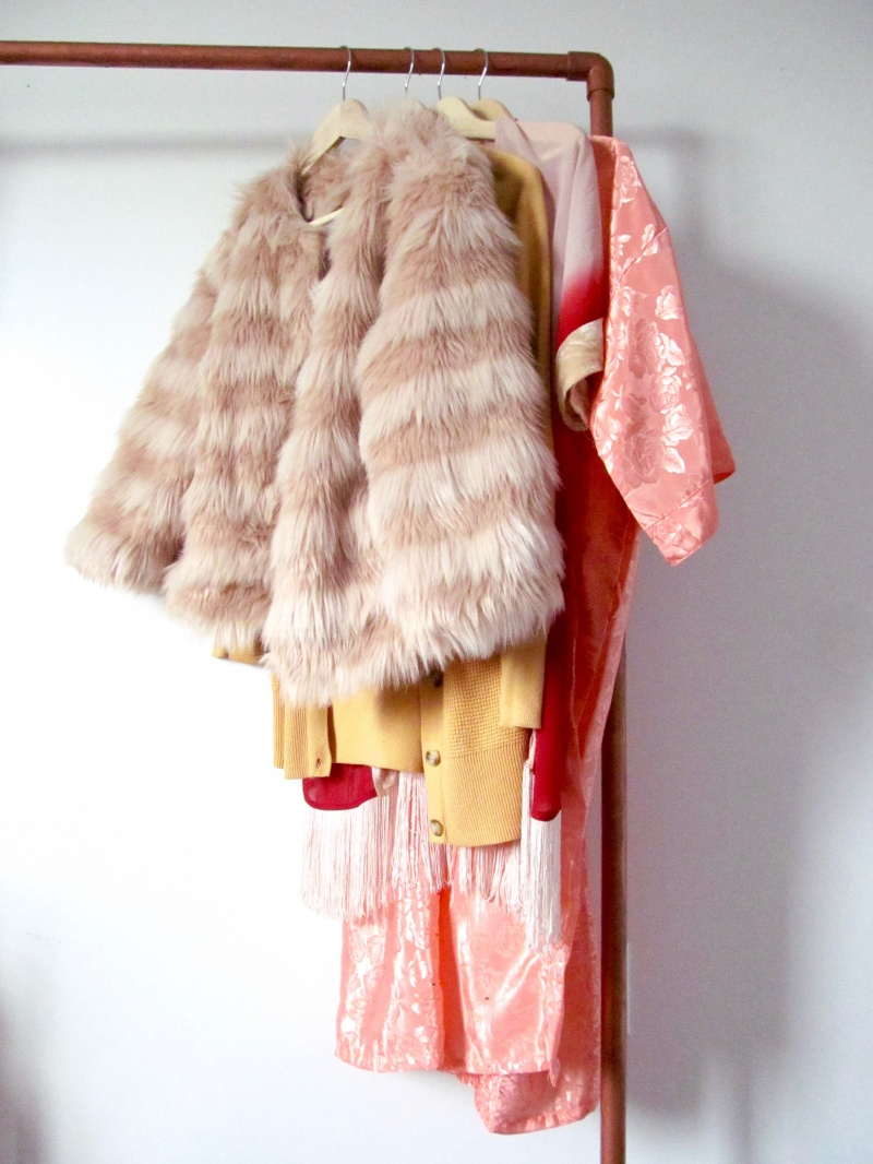 Picture Of Diy Faux Copper Rolling Garment Rack 1
