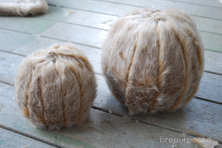 Picture Of diy faux fur covered pumpkins for fall and winter decor  5
