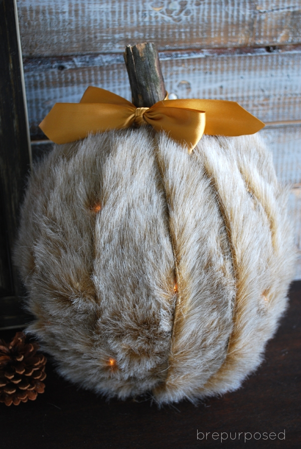 Picture Of diy faux fur covered pumpkins for fall and winter decor  6