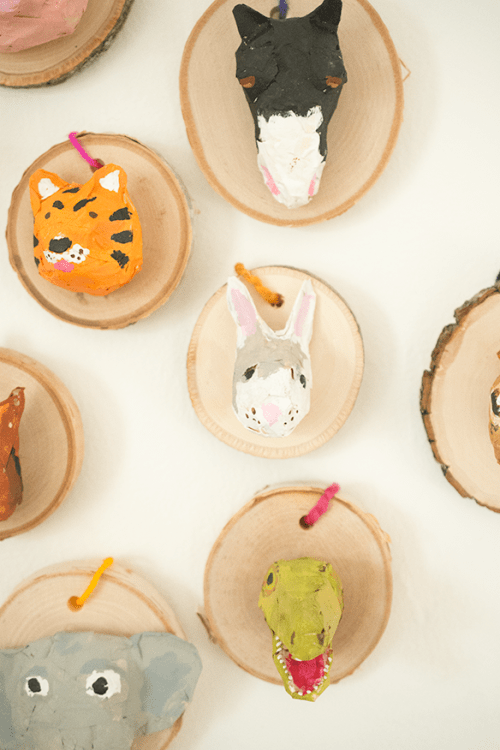 DIY Faux Taxidermy Ornaments To Make With Kids