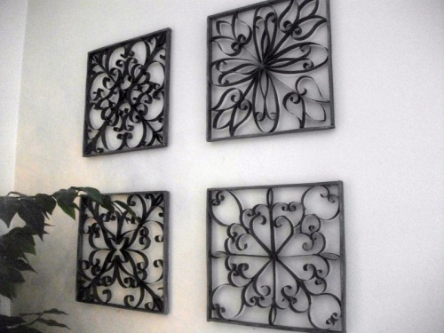 Diy Faux Wrought Iron Wall Art