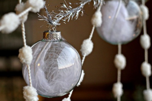 Diy Feather Ornament Garland