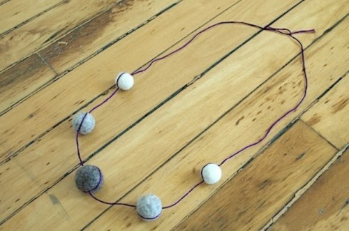 Diy Felt Ball Necklace