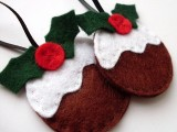 DIY Christmas Pudding Ornaments