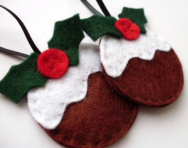 50 DIY Felt Christmas Tree Ornaments » DIY Christmas Pudding ...