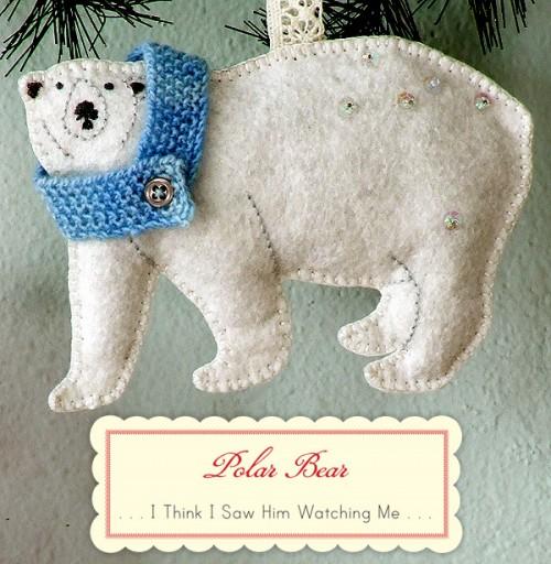 DIY Polar Bear Christmas Ornament