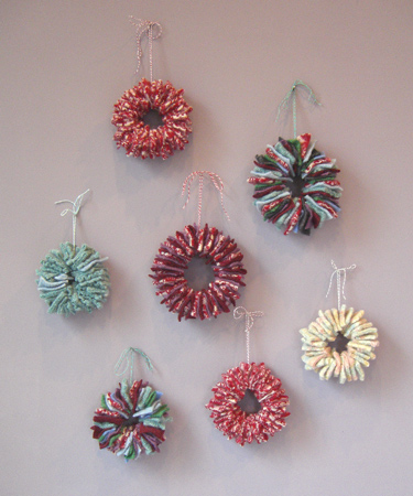 Thrifted Sweater Ornaments