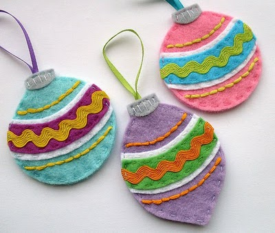 Vintage Felt Baubles These Ornaments
