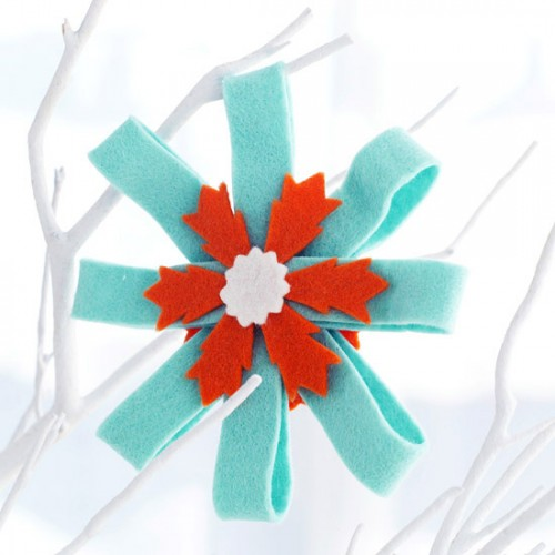 Easy to make felt rosettes would add an instant elegance touch to anything you decide to hang them on.
