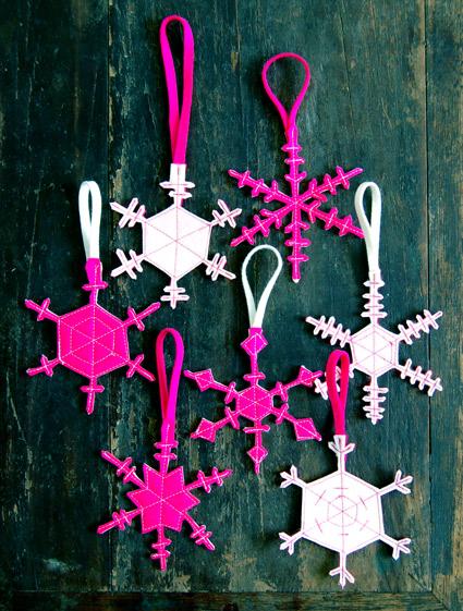 DIY Felt Snowflakes