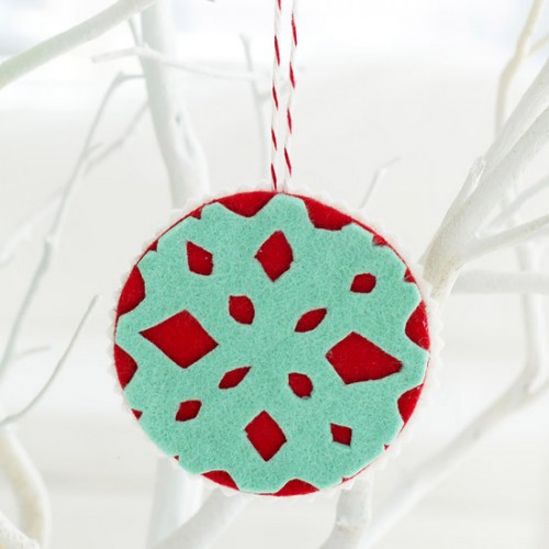 Similar to crafting coffee-filter snowflakes, this project is perfect for your kids.