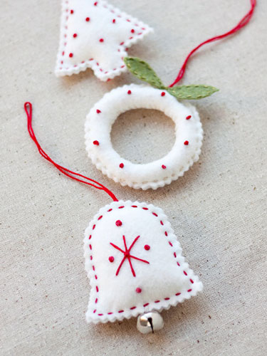 DIY Felt Holiday Ornaments