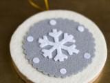 Round Snowflake ornament