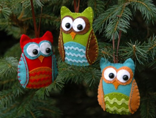 DIY Owl Christmas Ornaments