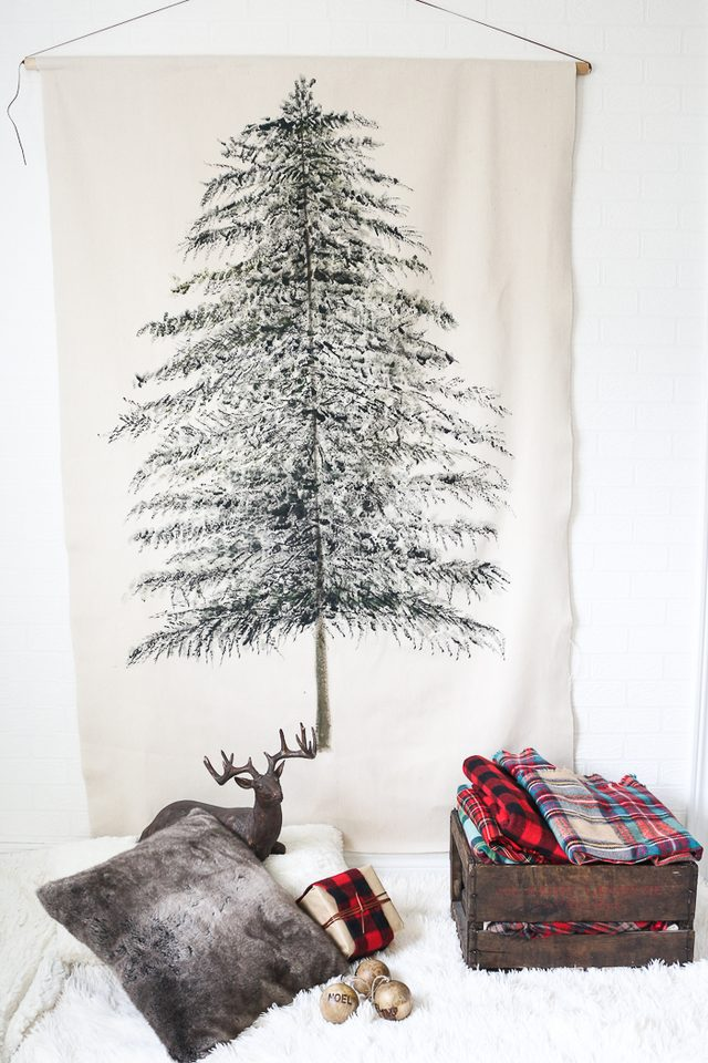 Picture Of Diy Festive Christmas Tree Wall Hanging 8