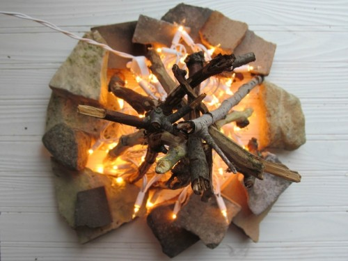 DIY Flameless Fire Pit For Home Decor