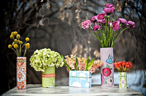 DIY Fun And Cute Floral Containers