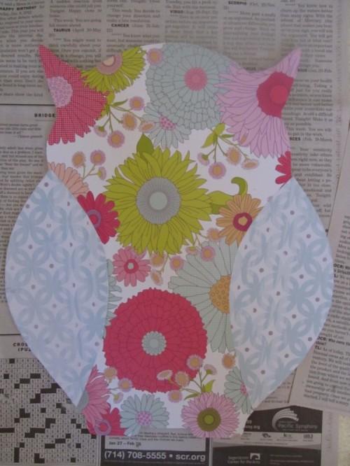Diy Floral Print Owl Clock