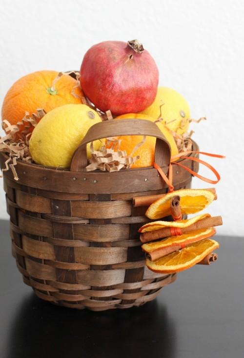 dried orange and cinnamon ornaments