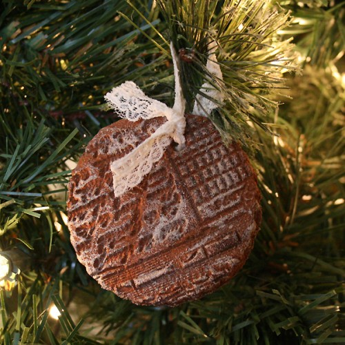 stamped cinnamon ornaments