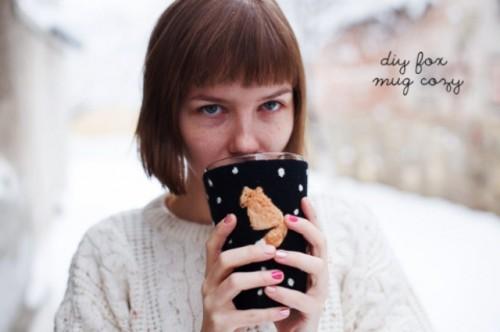 DIY Fox Mug Cozy