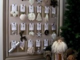 DIY Framed Christmas Ornament Advent Calendar