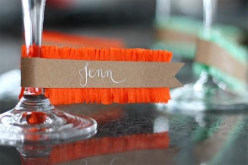 Diy Fringe Glass Name Tags